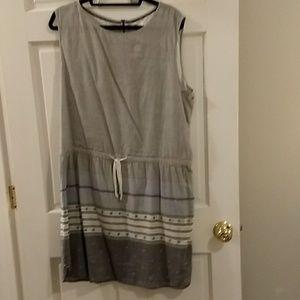 Caslon lined linen dress